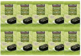Kirkland Organic Roasted Seaweed Snack, 0.6 OZ - PACK OF 10 SAVING VALUE