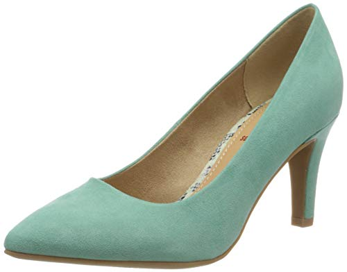 s.Oliver Damen 5-5-22411-24 Pumps, Grün (Mint 703), 39 EU