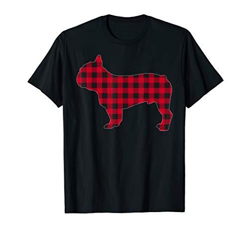 Red Plaid French Bulldog Dog Lover Matching Christmas Pajama T-Shirt