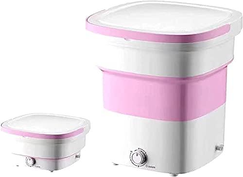 HYLK Lavadora minipportable, Lavadoraplegable, Lavadoraplegable de Ropa interiorportátilpequeña automáticapara apartamento, RV, Viajar, Rosa (Color: Rosa) (Color: Verde)