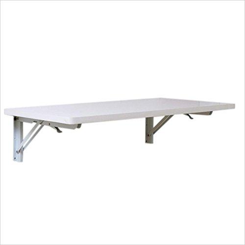 Zaixi Blanc Solide Bois Mur Suspendu Bureau Pliant Ordinateur Table à Manger Table d'étude en Option Forte capacité portante (Taille : 90cm*50cm)