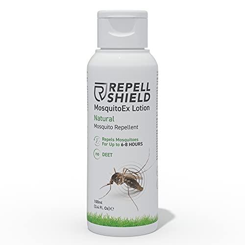 RepellShield Locion Antimosquitos Natural - Repelente Mosquitos Bebe, Anti Picaduras Insectos y Mosquito Tigre - Repelente Mosquitos Niños y Adultos - Alternativa a Pulsera Antimosquitos Niños, 100ml