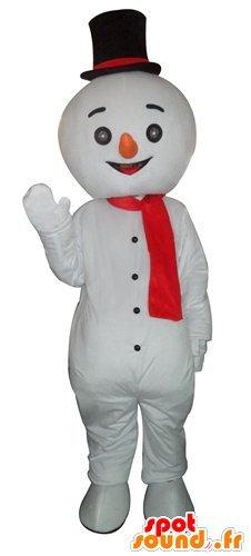 Gigante mascotte SpotSound Amazon pupazzo di neve e sorridente