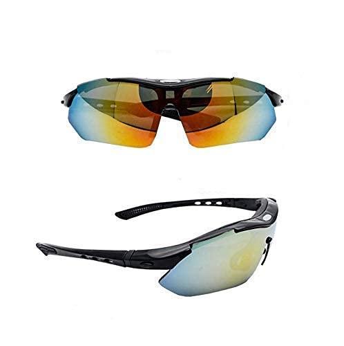 Gafas de sol deportivas polarizadas para hombre y mujer, gafas tácticas del ejército X7 con 4 lentes intercambiables para la conducción de motocicletas, ciclismo, caza, carreras, esquí, pesca