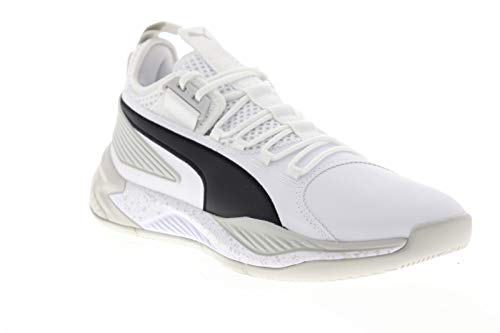 PUMA Mens Uproar Hybrid Court Core White Athletic Basketball Shoes 9