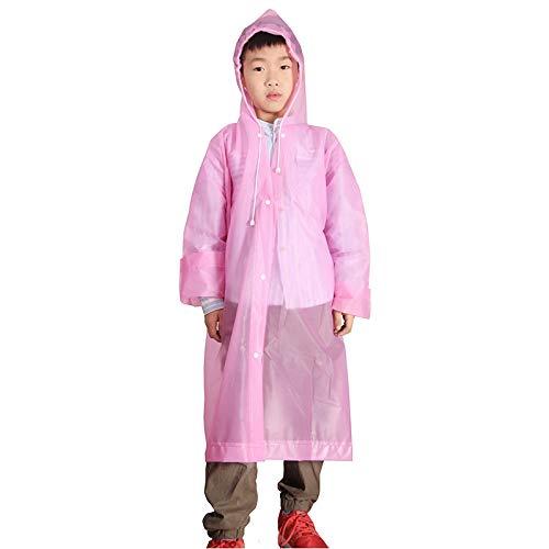 Chubasquero ligero para niños y niñas, el promedio de la escalada al aire libre Eva engrosamiento de la moda de los niños de PingGongHuaKeJiYouXianGongSi (color: rosa)