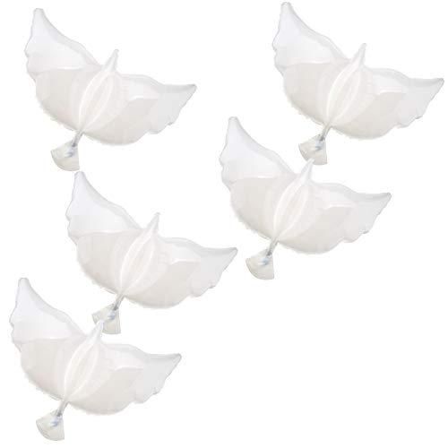 ENET Helium-Luftballons für Hochzeit, Party, Feier, 5 Stück