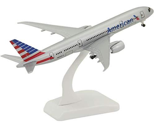 Modelo de avión de aleación sólida Boeing B787 American Airlines Adornos de Regalo de avión de pasajeros con Tren de Aterrizaje 18 cm