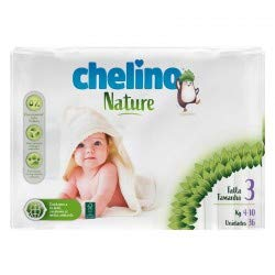 Pañales Chelino nature talla 3 (4 a 10 kg) 36 uds