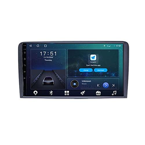 GOHHK 4G 64G Android 10.0 Player Video Multimedia para Audi A3 A4 A6 TT 2008-2012 Navegación GPS Serero DSP Carplay No 2 DIN(Size:Ocho núcleos,Color:WiFi:4GB+64GB)