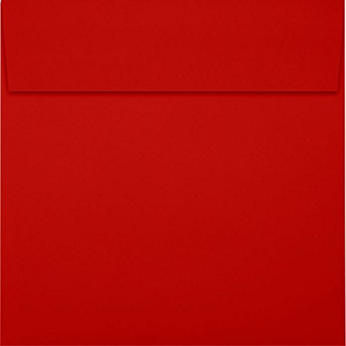 6 1/2 x 6 1/2 Square Envelopes - Holiday Red (50 Qty)   Perfect for Invitations, Announcements, Greeting Cards, Photos   8535-15-50