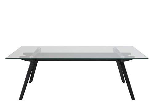 Amazon Brand - Movian Moiry - Mesa de centro, 60 x 120 x 40 cm, vidrio templado