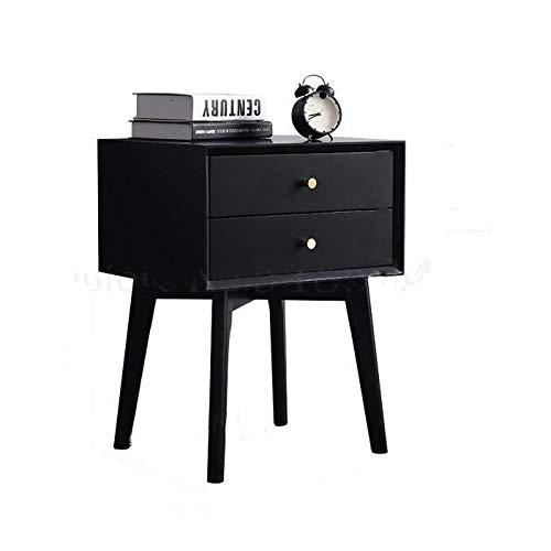 ZHUSHI Nordic Tout En Bois Massif Chambre Table De Chevet Maison Lit En Rondins Simple Armoire De Rangement Moderne Couleur Noyer (Color : 05)
