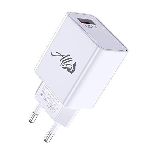 Adaptador Cargador USB universal 20 W compatible con iPhone 7/8/X/XS/XR, Samsung Galaxy S8/S9/S10/S20/Note 10/Note 20/A50/A70, Huawei, Honor, Xiaomi