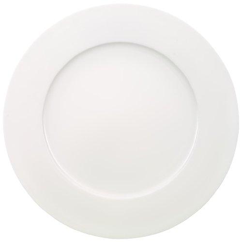Villeroy & Boch 10-4545-2680 Anmut Gourmetteller, Porzellan, weiß, 44.5 x 33.2 x 4 cm, 1 Einheiten