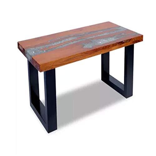 Heqianqian Mesas de café única teca cuadrada mesa de centro hecha a mano sala de estar acento mesa TopLiving sala muebles de oficina