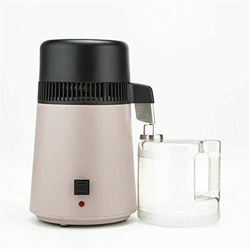 1,1 Gallonen / 4 Liter reines Wasser destilliertes Wasser Maschine Haushalt Edelstahl Wassermaschine destilliert, mit Anschlussflaschenfilter Wasseraufbereiter, voll 750W-Upgrade, 110v