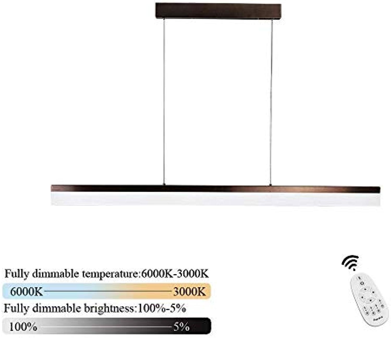 LED Pendelleuchte I CBJKTX Pendellampe esstisch 48W Büroleuchte dimmbar mit der Fernbedienung Hngeleuchte Arbeitsplatzlampe für Büro Esstisch Cafe Restaurant 120 x 7 x 1,2 cm