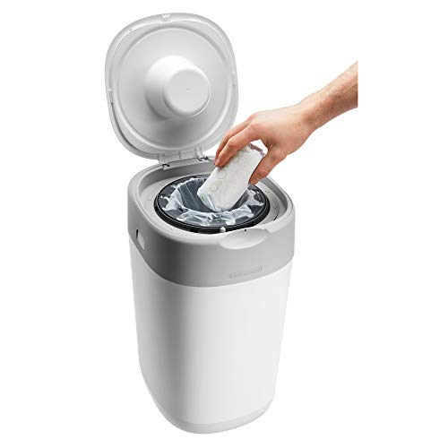 Tommee Tippee Twist and Click Advanced Nappy Disposal Bin System Powered by Sangenic
