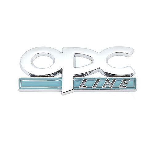 Emblema de repuesto Logotipo Pegatinas de automóviles Emblema Fender Talga Tallones Compatible con Opel OPC Line Astra H G J K F Mokka Regal Zafira A B Corsa C D Insignia Vectra Engomada del Emblema
