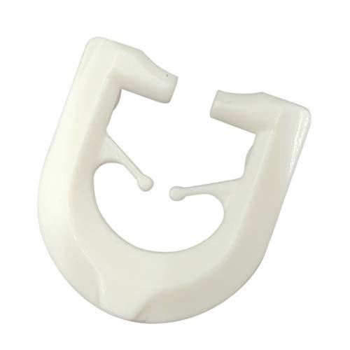 DELFRA 100 T-Gleiter - Gardinenhaken für T-Schienen Farbe: weiß