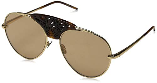 Pomellato PM0033S 003 Occhiali da Sole, Oro (003-Gold/Brown), 59 Donna
