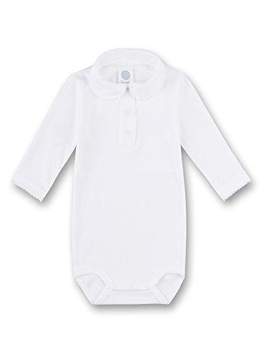 Sanetta Sanetta Unisex Baby 1/1 w.Collar Formender Body, Weiß (White 10.0), 80