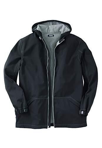 Freeze Defense Mens Big and Tall Fleece Lined Quilted Winter Jacket Coat (6XL / 6X, Gray)