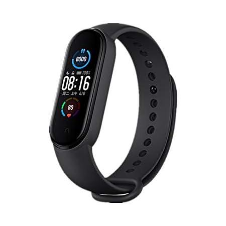 Xiaomi Mi Band 5 Pulsera de Actividad,Monitores de Actividad,Pantalla Pulsómetro Fitness Tracker, Smartwatch con 0.95''Pantalla AMOLED a Color,con iOS y Android,Negro(Versión Global)