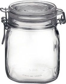 Bormioli Rocco Fido Round Clear Jar, 25.25-Ounce