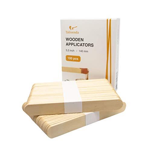Holzspatel,Spatel Kosmetik,Spatel Holz,Mundspatel,Eisstiele aus Holz,Spatel für Haarentfernung mit Wax,Wachs Haarentfrenung,Waxing auf Gesicht,Holz zum Basteln,Waxing Set,Holzstäbchen breit,100S.14cm