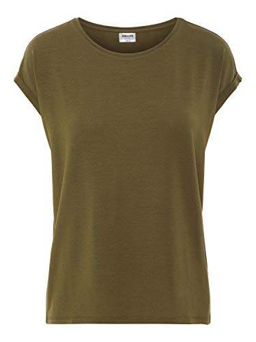 Vero Moda NOS Damen Vmava Plain Ss Top Ga Noos Bluse, Grün (Ivy Green), 40 (Herstellergröße: L)