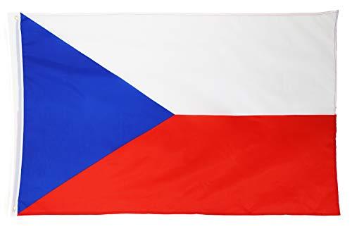 Star Cluster 90 x 150 cm Tschechien Flagge/Tschechien Fahne/Fanartikel/Czech Republic National Flag/Vlajka České republiky (CZ 90 x 150 cm)