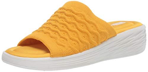 Ryka Women's Nanette Slides Sandal, Golden Rod, 9.5 W US