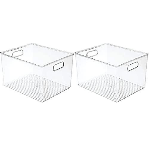 Andifany 2X 29X20X15Cm AcríLico Transparente Refrigerador Caja de Almacenamiento Dormitorio de Escritorio BaaO Caja de Almacenamiento