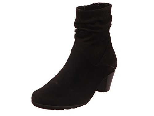 Gabor Stiefeletten Schwarz Damen Chelsea Boots Wanderschuhe Stiefelette Boots Reitstiefel Stiefelette Overknee Stiefel Reissverschluss 823 Nubuk - 37 EU