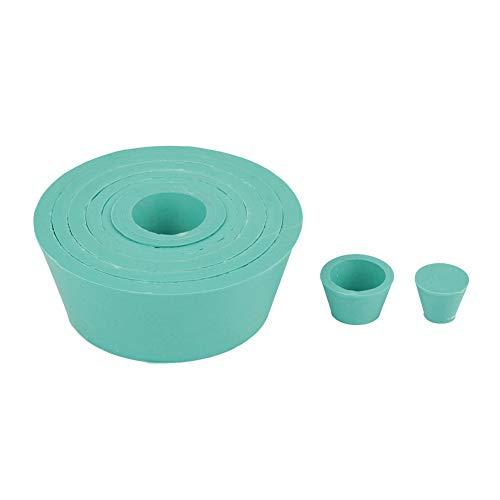 SANON Filtro Adaptador Conos Tapón de Goma Verde Buchner Embudo Matraz Conjunto de Filtración