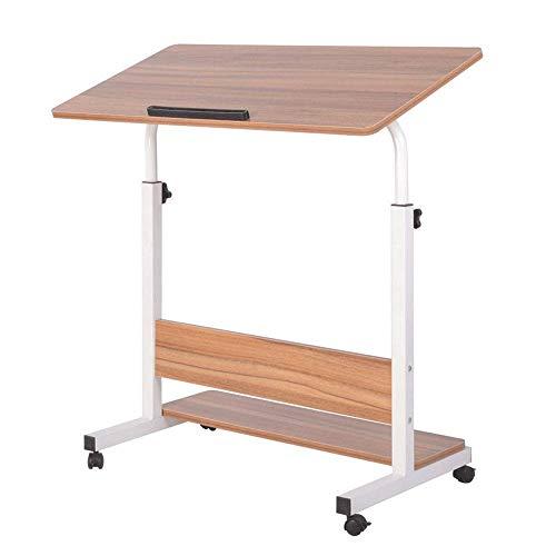 JIECHU - Tavolino da tavolo per computer portatile, portatile, portatile, per letto, divano, postazioni di lavoro (colore: nero, dimensioni: 80 x 40 x 68-90 cm)