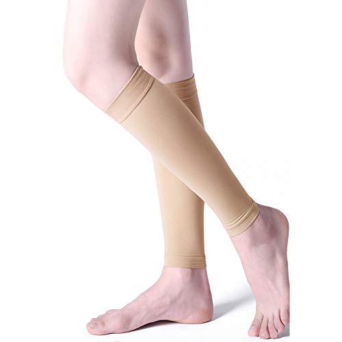 Meijunter Fußlose Kniehohe Kompressionssocken für Damen und Männer, Medizinisch Kompression Waden Ärmel 23-32 mmHg für Krampfadern
