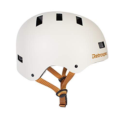 Retrospec CM-1 Bicycle / Skateboard Helmet for Adult CPSC Certified Commuter, Bike, Skate , Matte Eggshell, 51-55 cm / Small