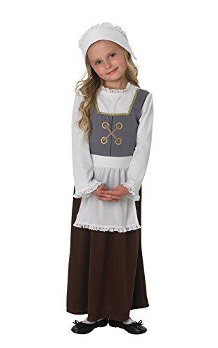 Disfraz para niñas de pobre Tudor victoriano Historical Book Day School Fancy Dress