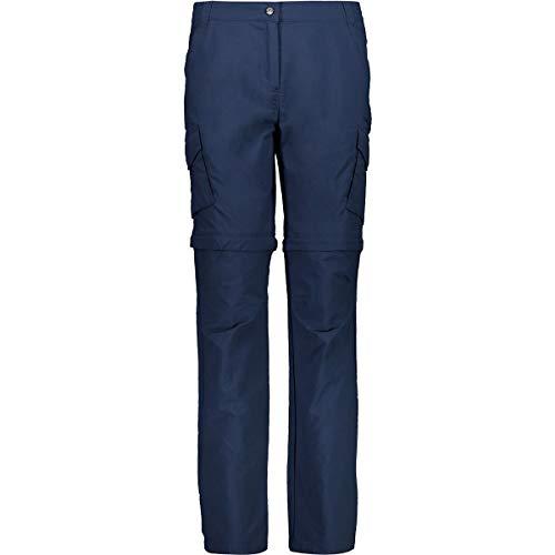 CMP Damen Lange Reißverschluss aus Trekkinghosen Stretch 30T6556 Hose, Blue, D40