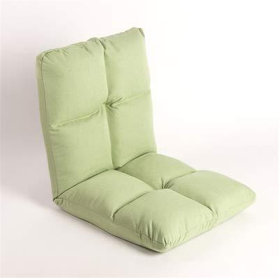 Plancher Pliant RéGlable Sofa Rembourré, Sleeper Lit Canapé Inclinable Multi-Couleur SéLection,52cm*55cm*56cm (20.5 * 21.7 * 22.1inch),Green