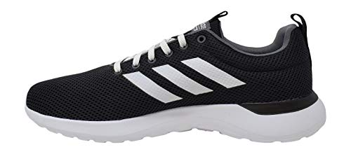 adidas Men's Lite Racer CLN Running Shoe, Black/White/White, 10.5 M US