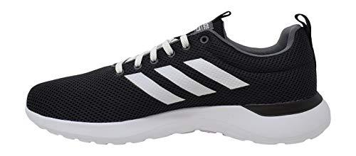 adidas Men's Lite Racer CLN Running Shoe, Black/White/White, 9.5 M US