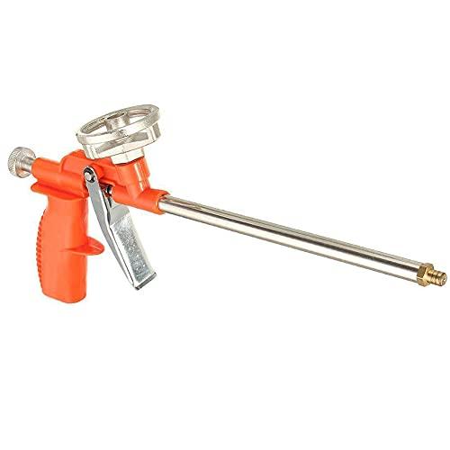 FUSIYU Pistola Espuma,Pistola de Espuma de Poliuretano,Pistola de Calafateo con Pulverización Manual,Carcasa de Metal con Mango de Plástico Naranja