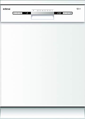 Edesa, Lavavajillas de libre instalación, Modelo: EDW-6122 WH, 7 programas, 60 cm de ancho, Eficiencia energética: A++, Color Blanco