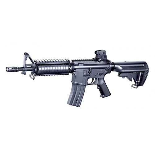 Fusil Airsoft eléctrico M4 F6624 AR-15 Golden Eagle Rifle táctico réplica Color Negro Potencia 330 fps 1 Julio (Incluye batería li-po)