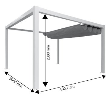 Pérgola de aluminio clásica para fijar al techo, de policarbonato (16 mm) con canaleta, color gris, color Gris ral 7016, tamaño 6000 x 3000 mm: Amazon.es: Jardín