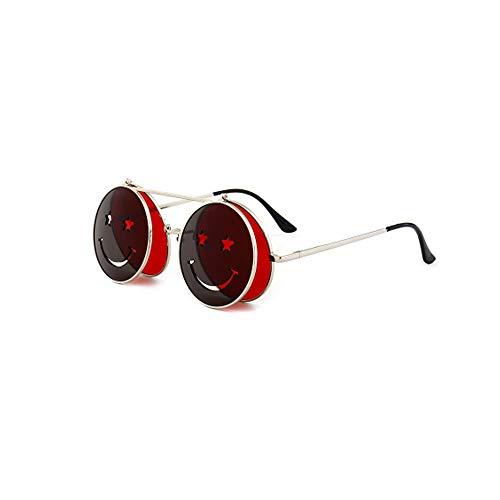 LUXIAOYU New Peng Gedämpft Clamshell Smiley Sonnenbrillen Europa und die Vereinigten Staaten Trend Street Shot Ozean Film Sonnenbrillen Gezeiten Sonnenbrillen